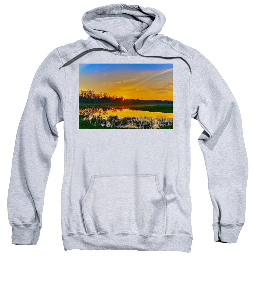 Related Tags: Sunset Artwork Sweatshirt featuring the photograph After Coffee by Robert Pearson