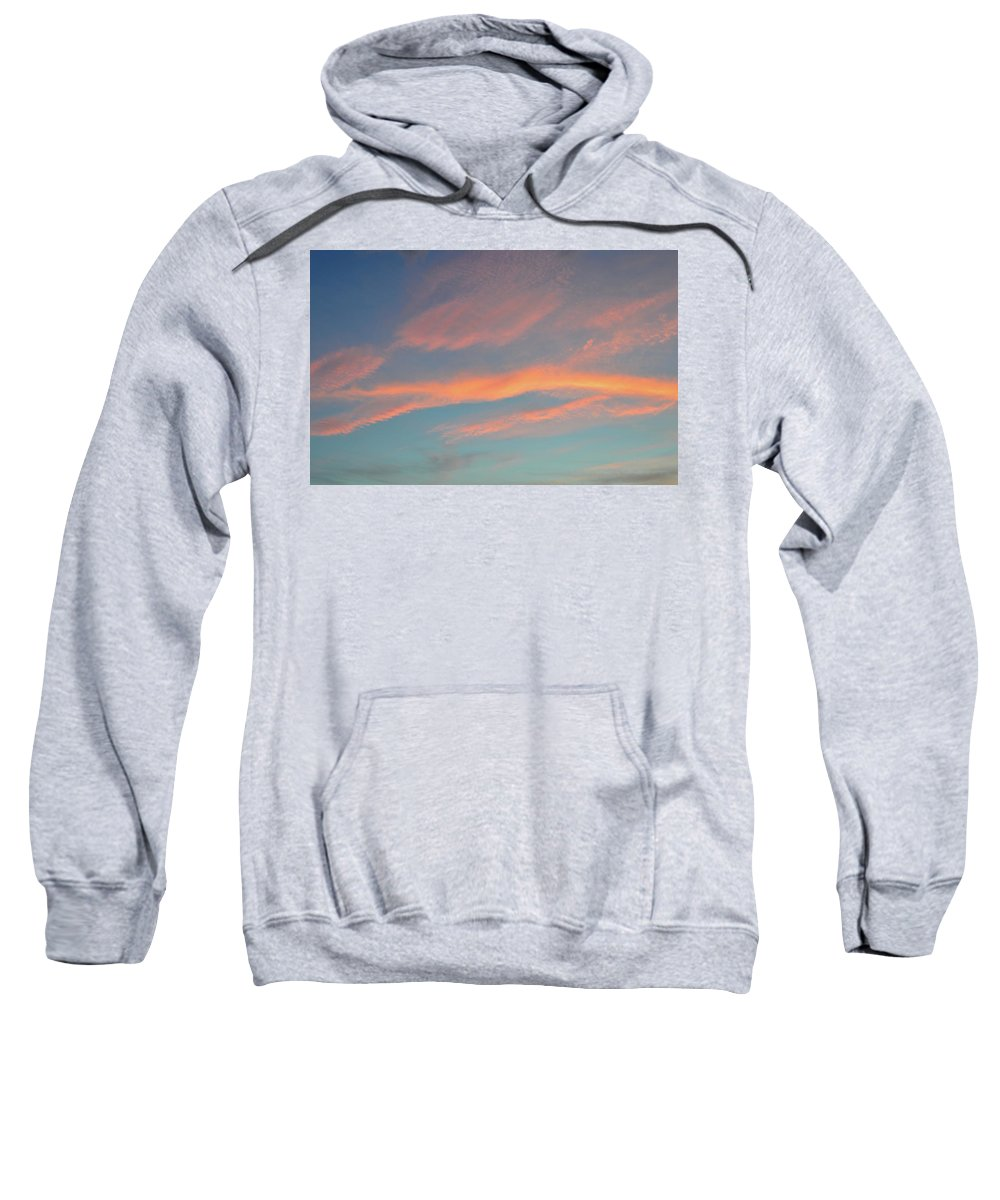 Abstract Sweatshirt featuring the photograph After Sunset Clouds In The West by Lyle Crump
