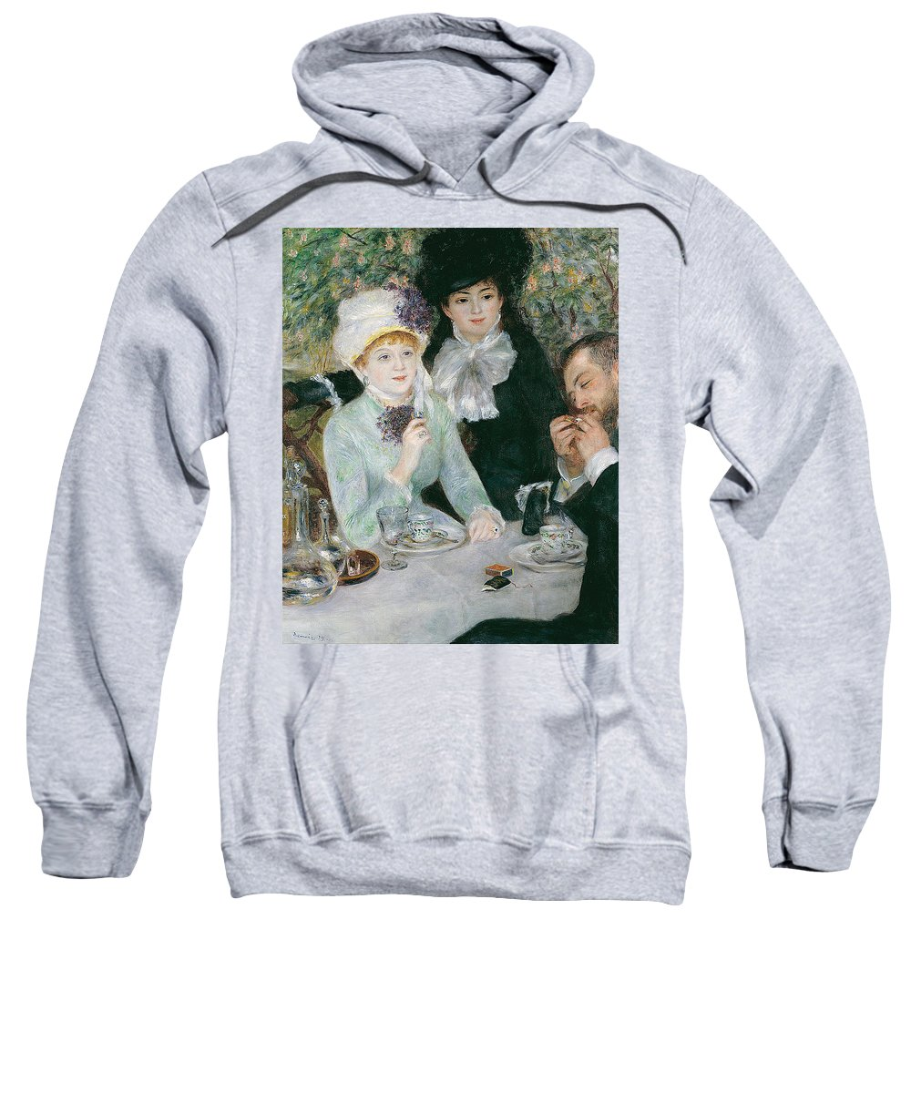 Pierre-auguste Renoir Sweatshirt featuring the painting After The Luncheon by Pierre-Auguste Renoir