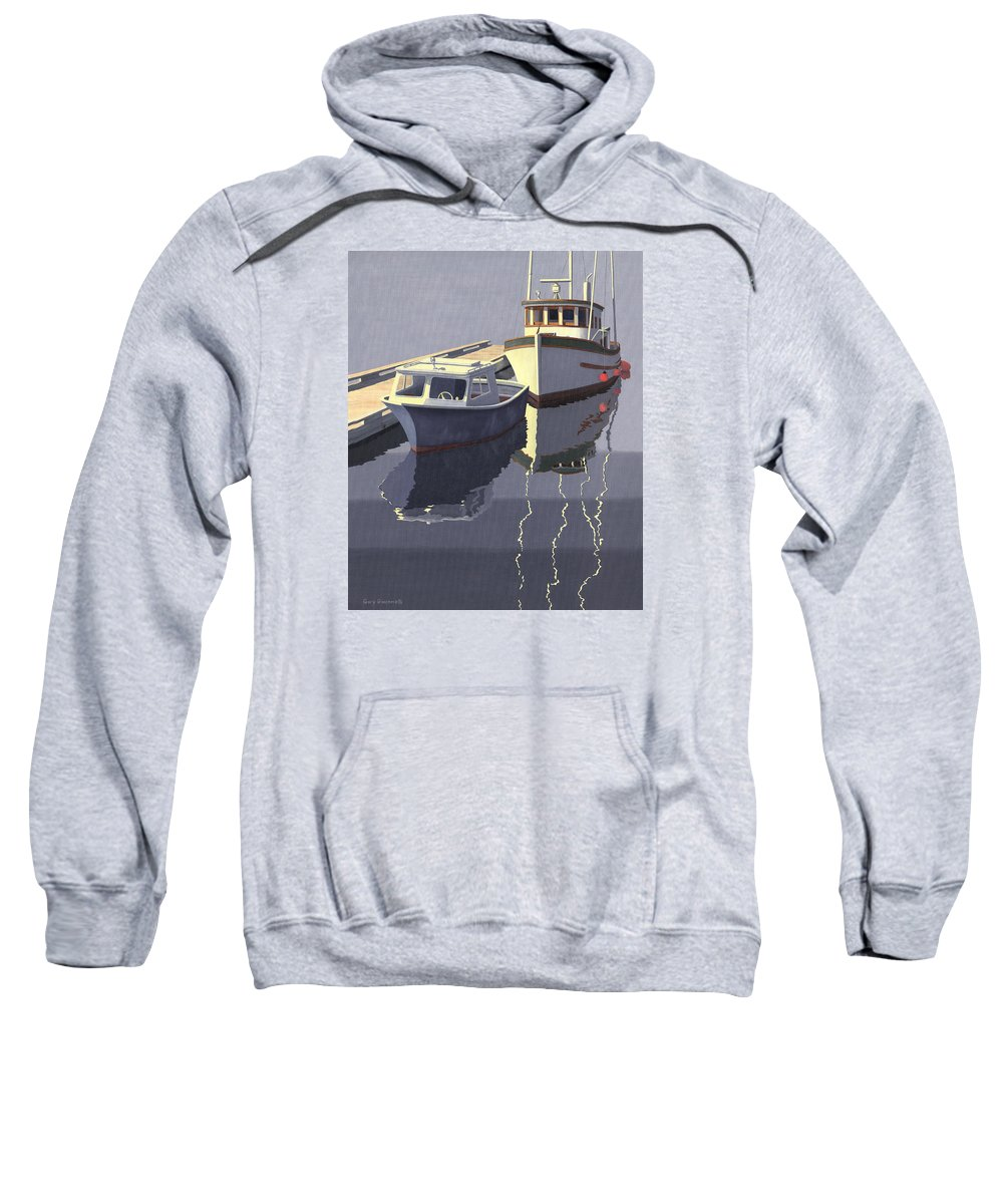 Boat Sweatshirt featuring the painting After The Rain by Gary Giacomelli
