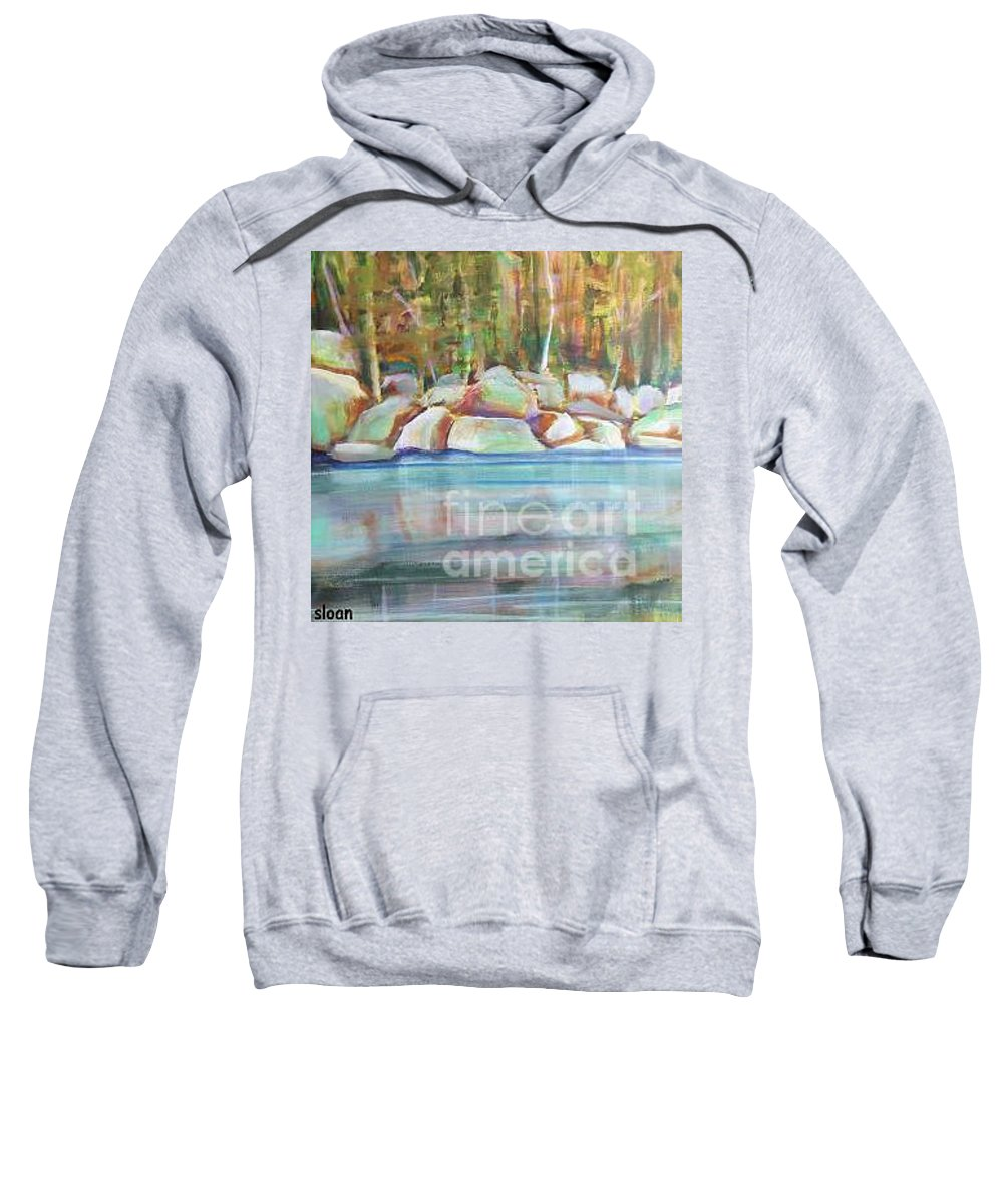 Landscape Sweatshirt featuring the painting After The Rain by Karen Sloan