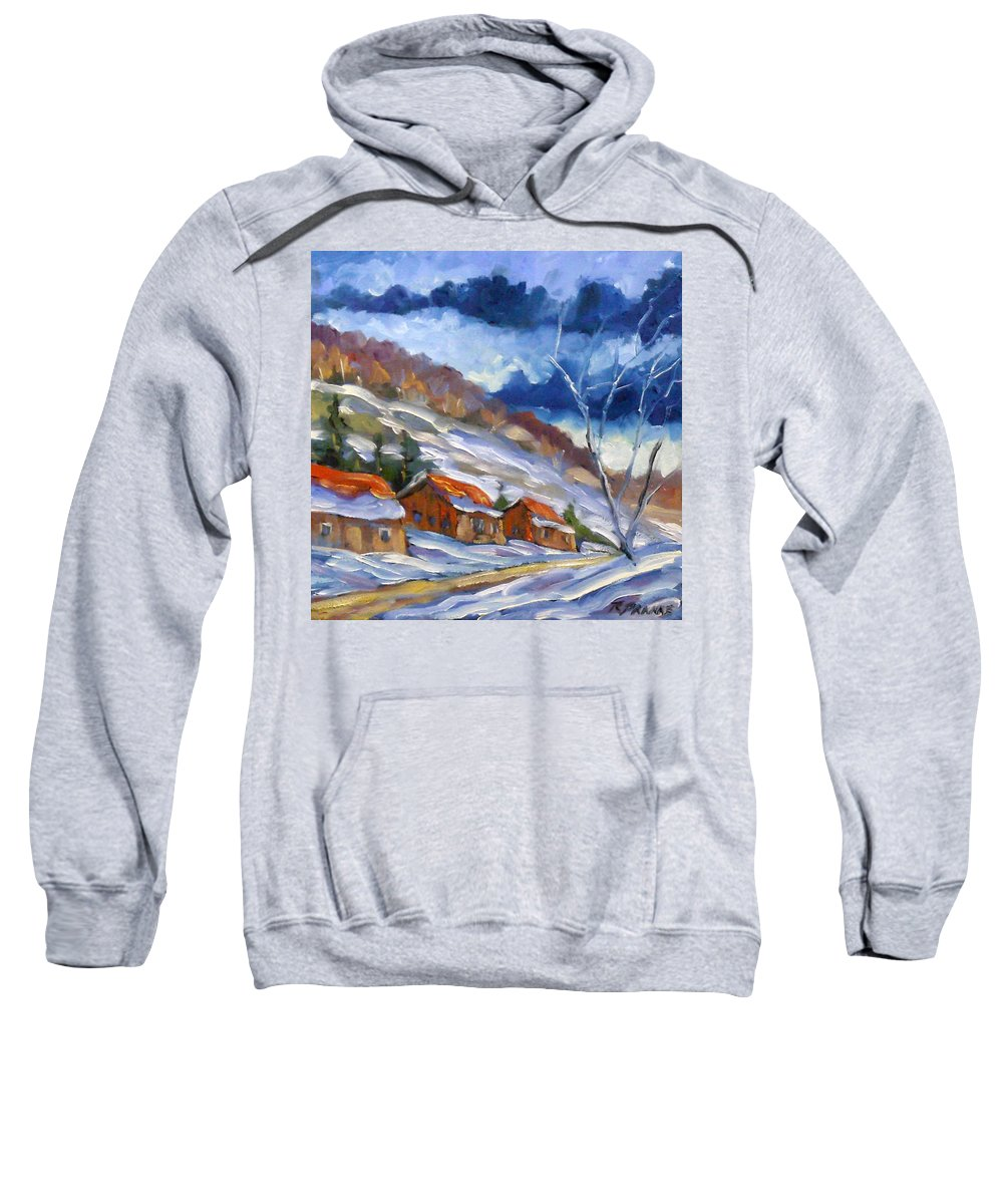 Art Sweatshirt featuring the painting After The Storm by Richard T Pranke