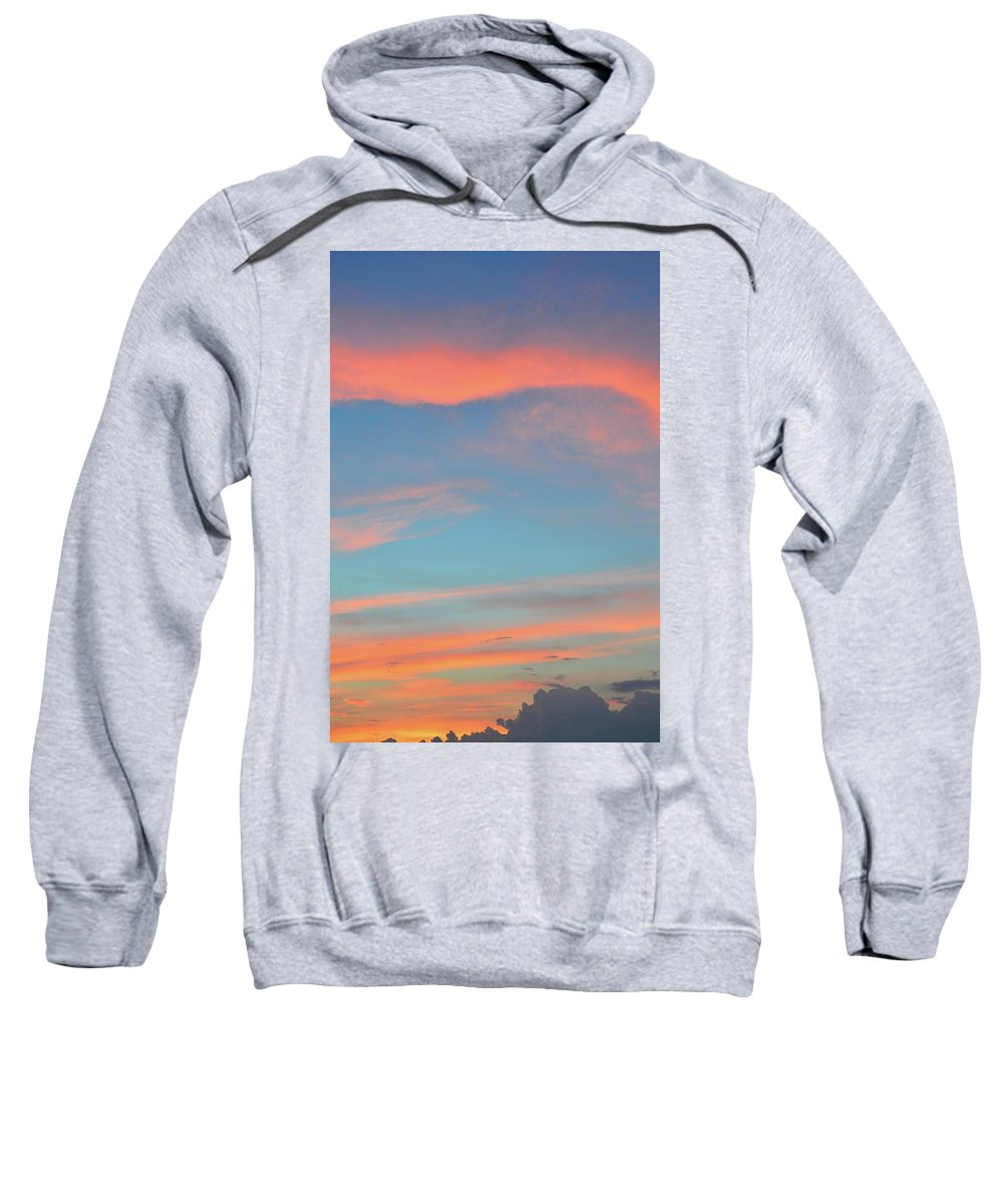 Abstract. Sunset Sweatshirt featuring the photograph After The Sun Set by Lyle Crump