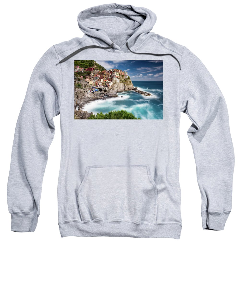 Europe Sweatshirt featuring the photograph Afternoon In Manarola by Michael Blanchette