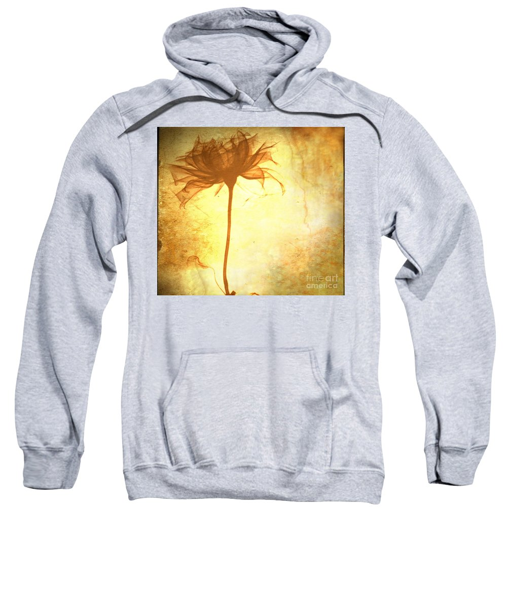Flower Sweatshirt featuring the painting Against All Odds by Jacky Gerritsen