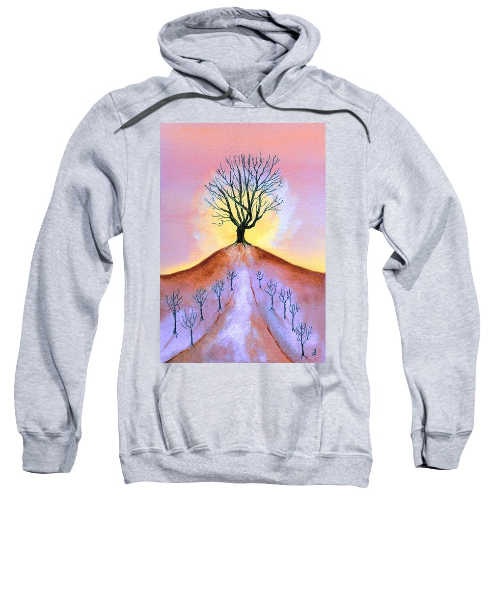Watercolor Sweatshirt featuring the painting Aglow by Brenda Owen