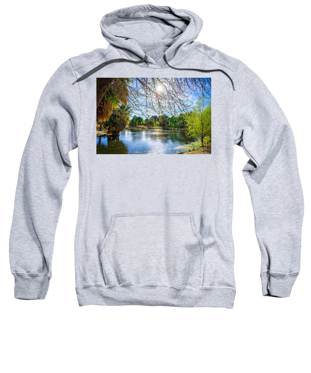 Agua Caliente Sweatshirt featuring the photograph Agua Caliente by Larry White