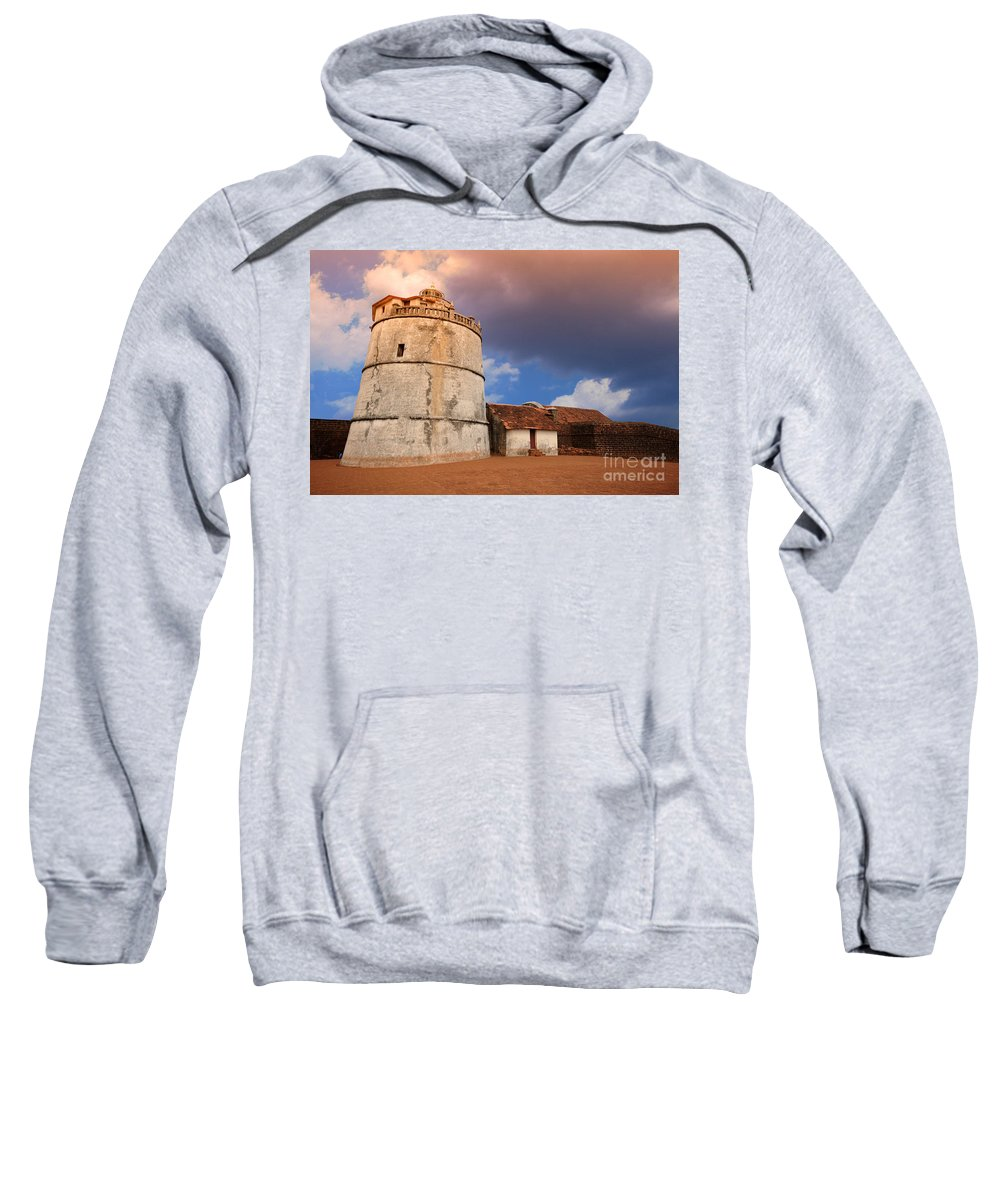 Fort Sweatshirt featuring the photograph Aguada Fort Goa by Charuhas Images