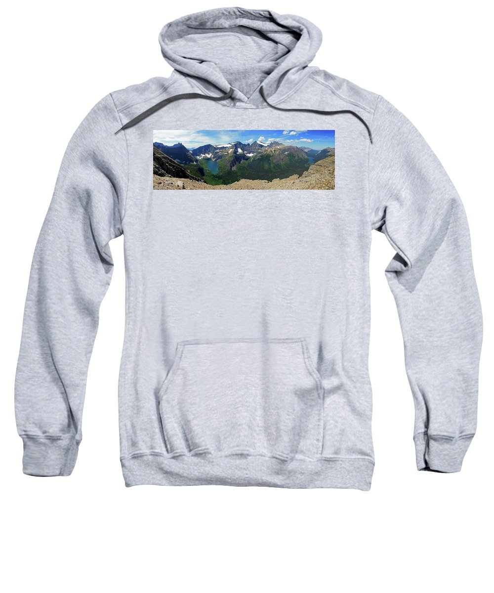 Glacier National Park Sweatshirt featuring the photograph Ahern Goat Trail by Wildscape Panoramas