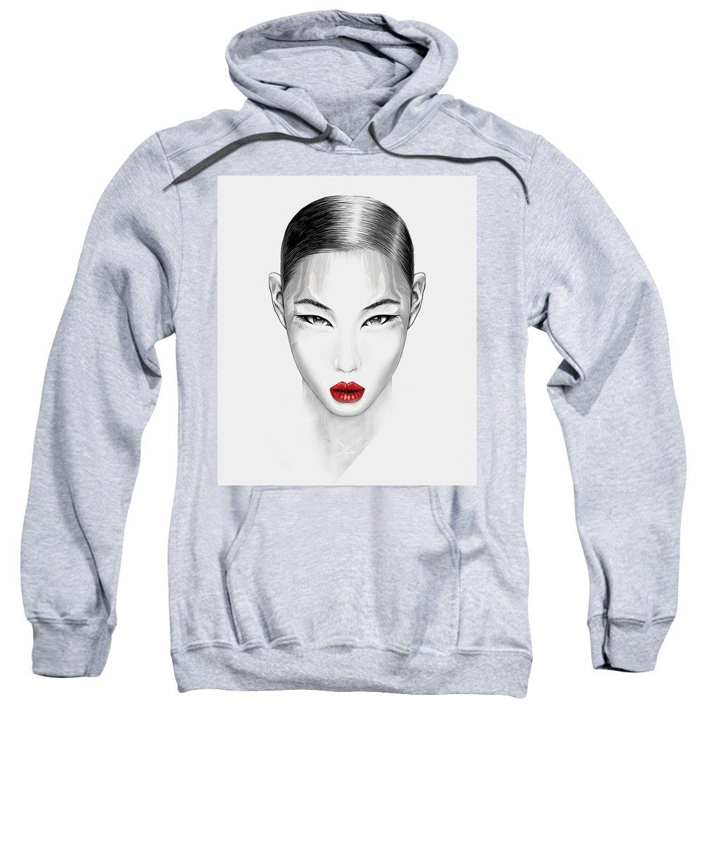 Androgyne Sweatshirt featuring the digital art Aidoru by Dino Olivieri