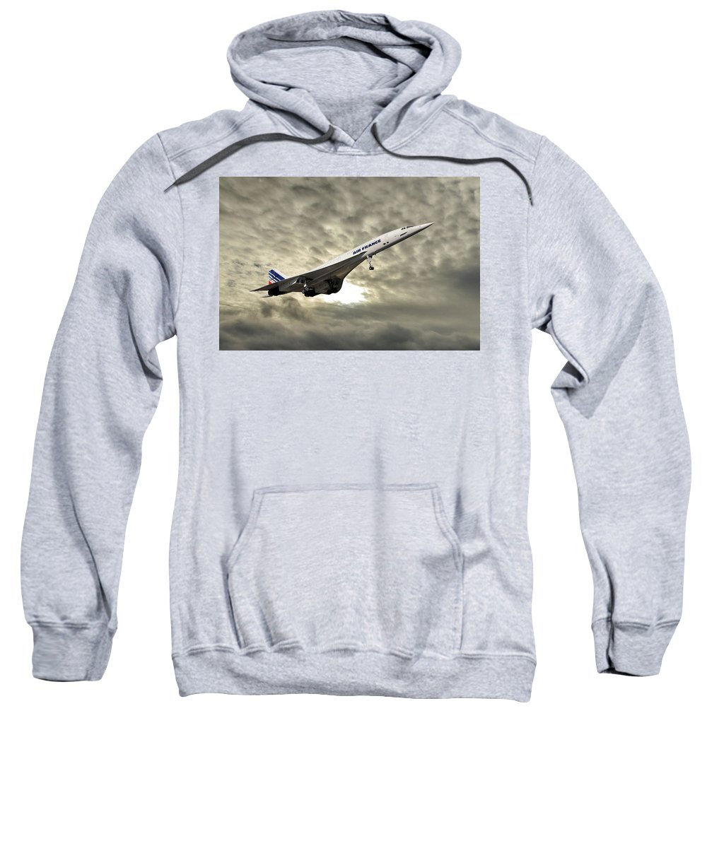 Air France Sweatshirt featuring the photograph Air France Concorde 115 by Smart Aviation