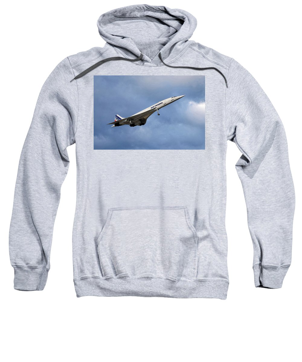 Air France Sweatshirt featuring the photograph Air France Concorde 117 by Smart Aviation