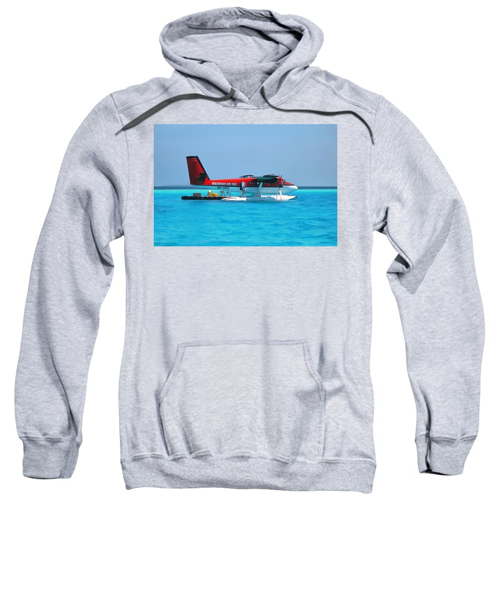 Air Taxi Sweatshirt featuring the photograph Hydroplane by Sergey Lukashin