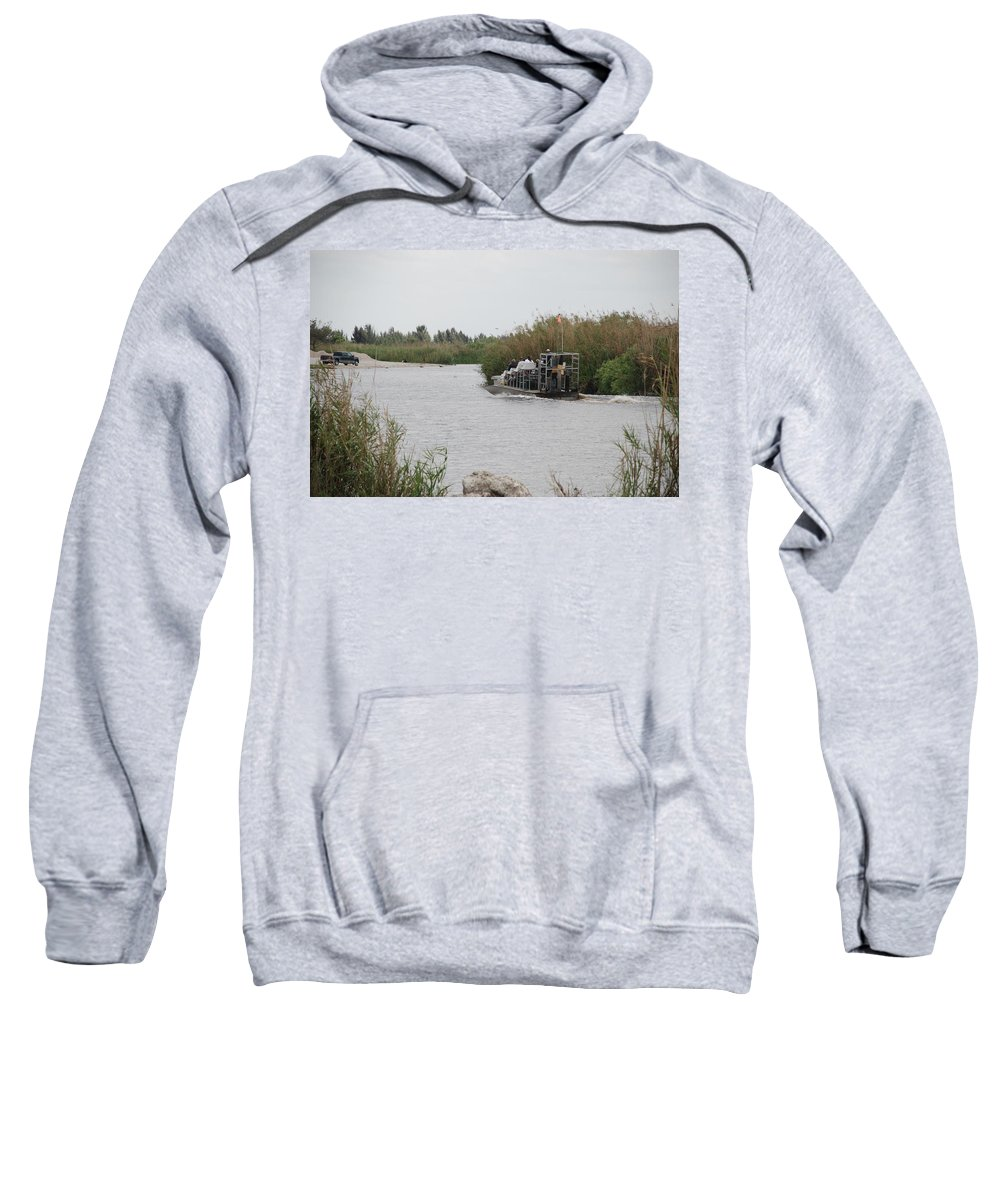 Everglades Sweatshirt featuring the photograph Airboat Rides 25 Cents by Rob Hans