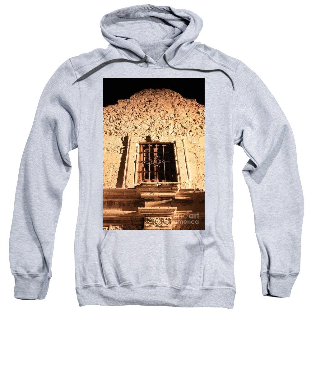 Alamo Sweatshirt featuring the photograph Alamo Night Window by Carol Groenen