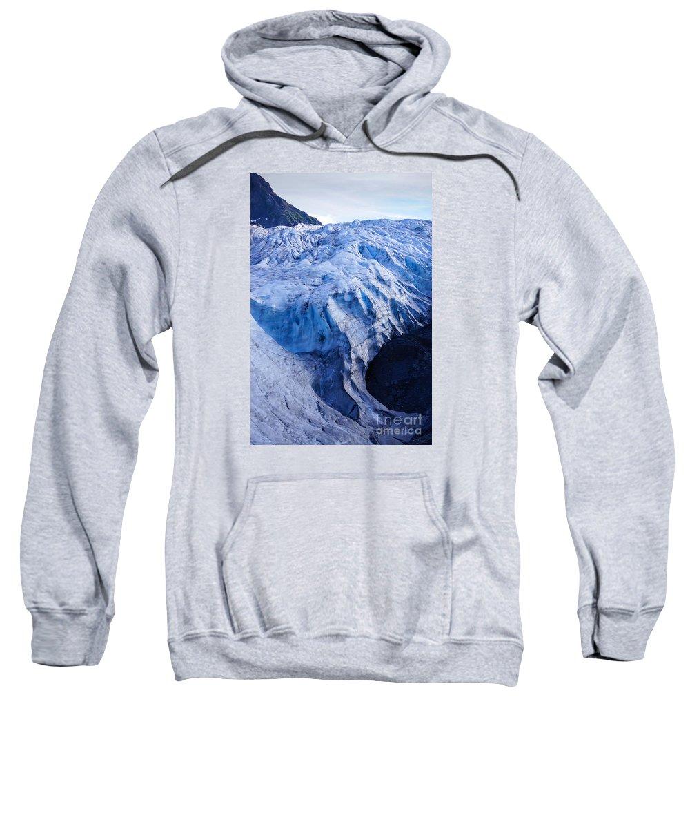 Adventure Sweatshirt featuring the photograph Alaska Exit Glacier by Jennifer White
