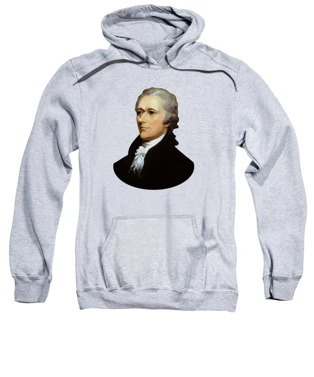 Alexander Hamilton Sweatshirt featuring the painting Alexander Hamilton by War Is Hell Store