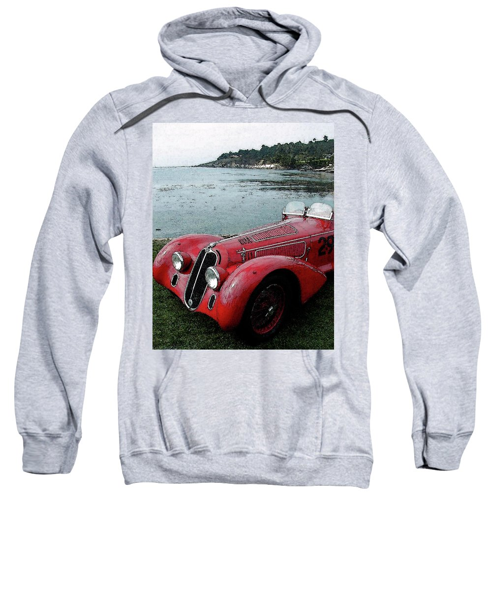 Automobile Sweatshirt featuring the photograph Alfa29 by Alan Olmstead