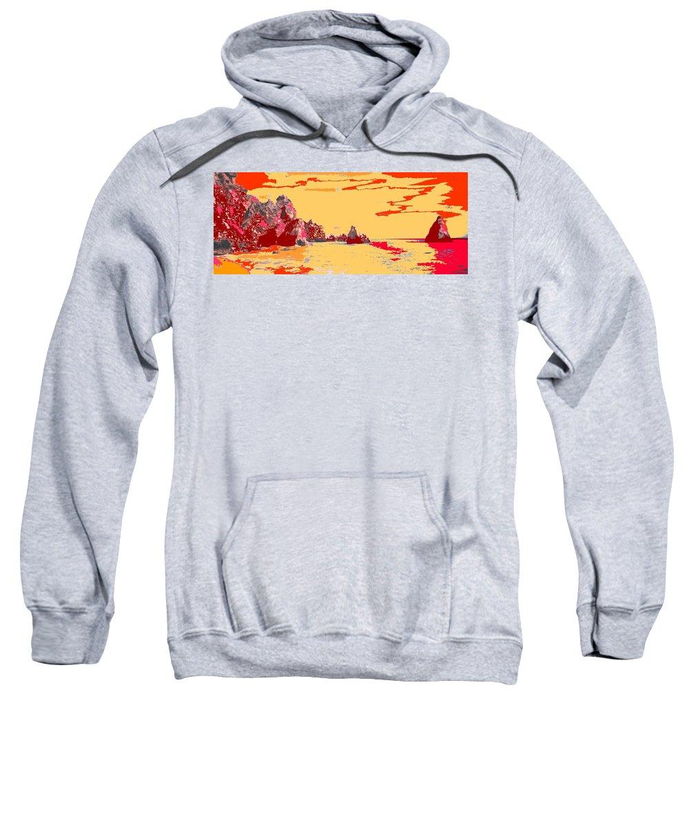 Mediterranean Sweatshirt featuring the photograph Algarve Sunrise by Ian MacDonald