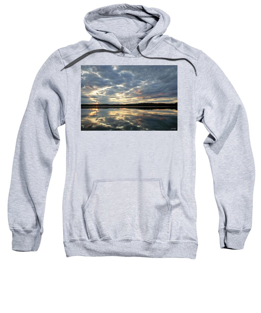 Landscape Sweatshirt featuring the photograph Algonquin Lake Sunset by Phill Doherty