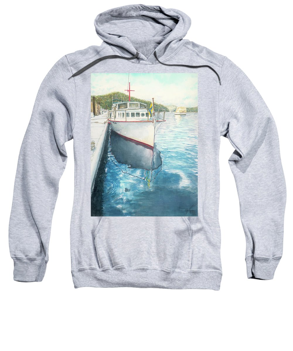 Sweatshirt featuring the painting Alice May by Victoria Kitanov