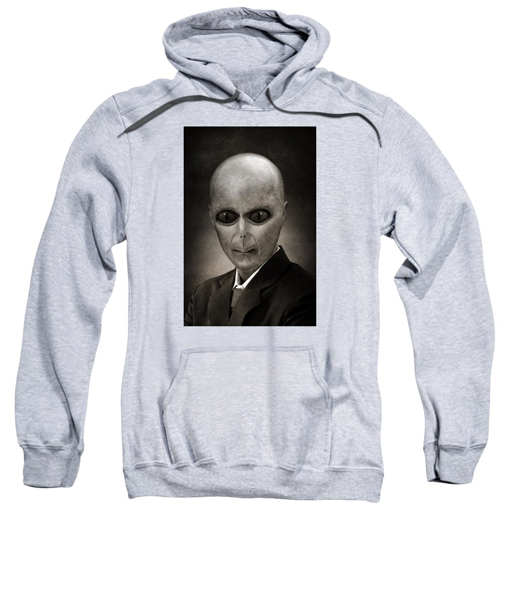 Military Invasion Sweatshirt featuring the painting Alien by FL collection