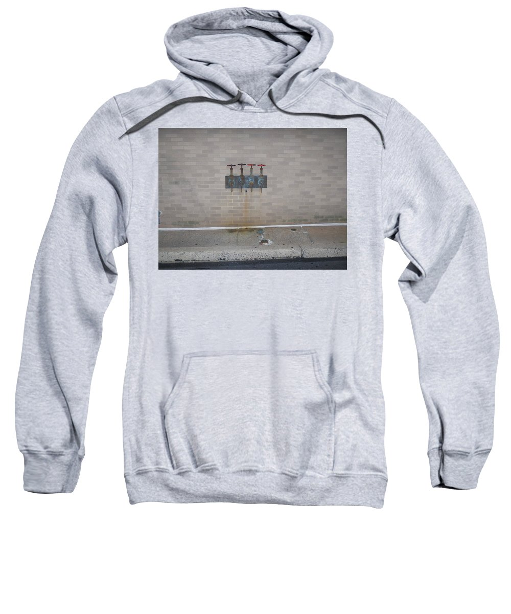 Photograph Sweatshirt featuring the photograph All Alone Four Pipes by Thomas Valentine