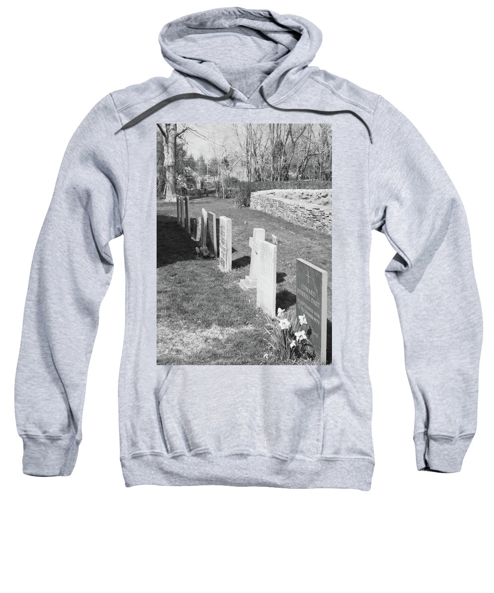 Scenic Sweatshirt featuring the photograph All In A Row by Erin Rosenblum