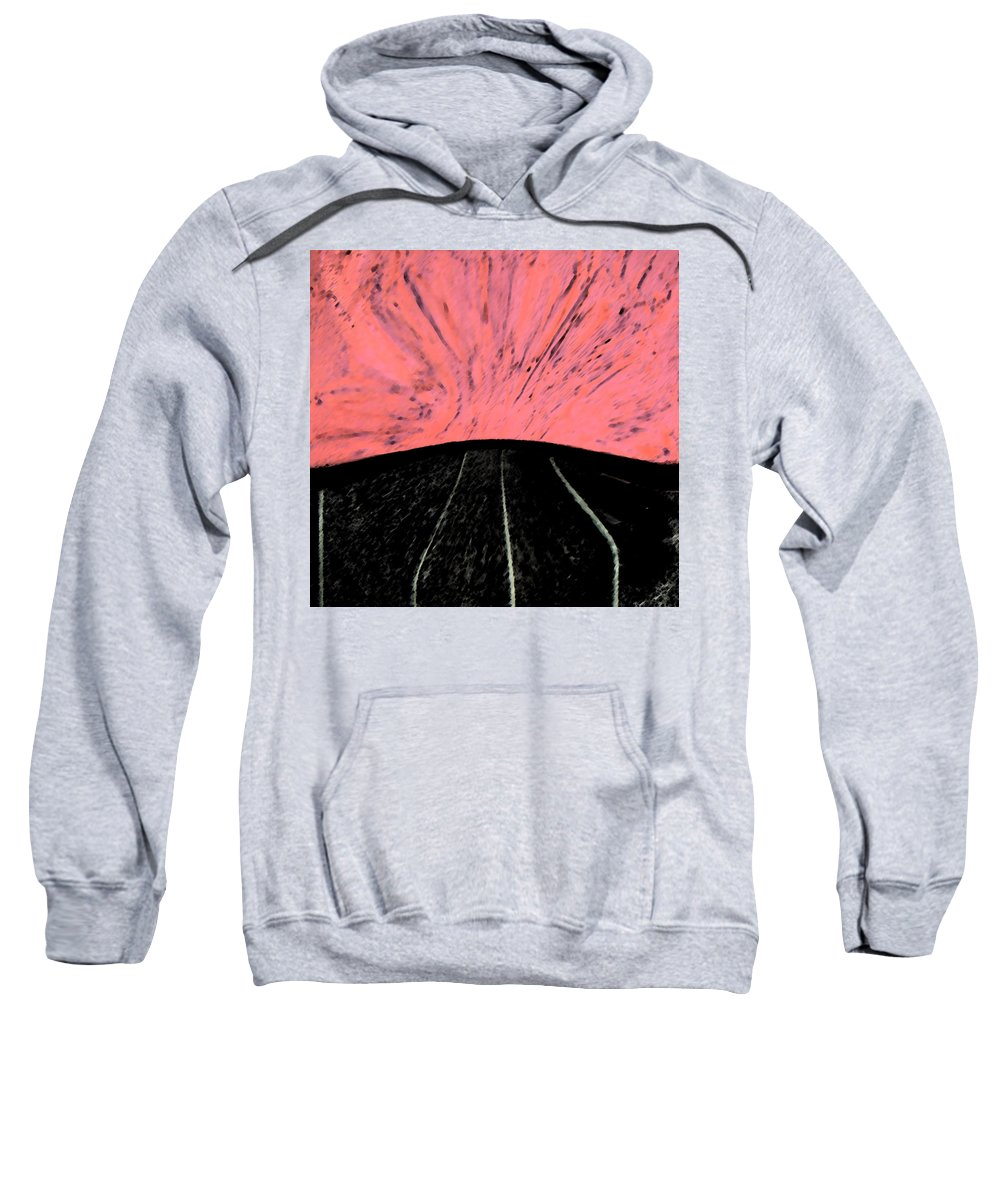 Abstract Sweatshirt featuring the digital art All Roads Lead... by Lenore Senior
