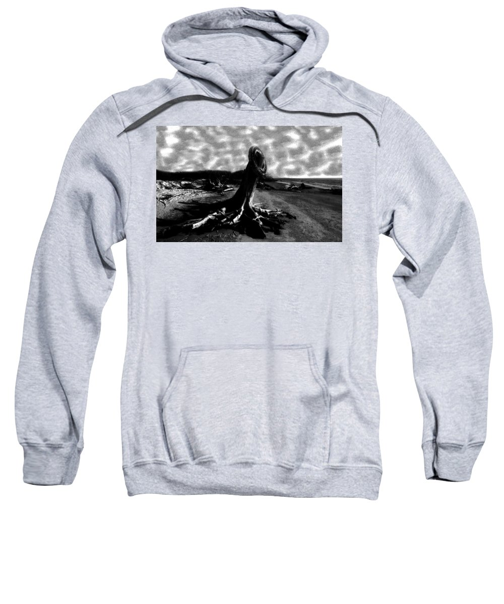 Art Sweatshirt featuring the painting All Washed Up by David Lee Thompson