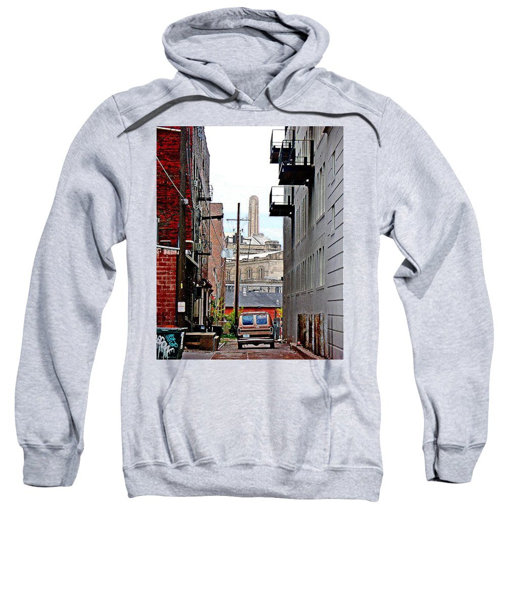 Cityscape Sweatshirt featuring the photograph Alley by Steve Karol