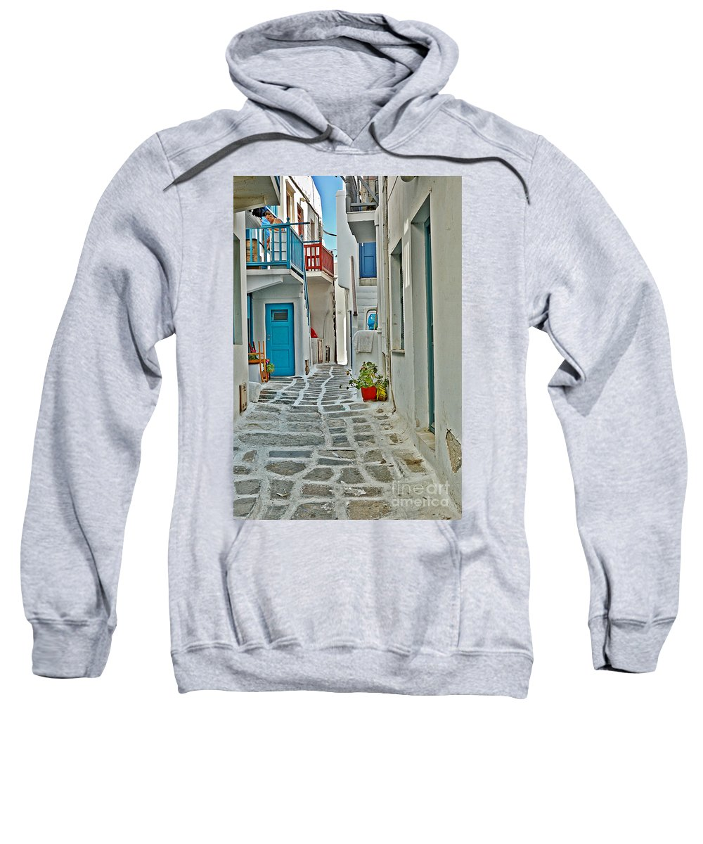 Alley Sweatshirt featuring the photograph Alley Way by Joe Ng