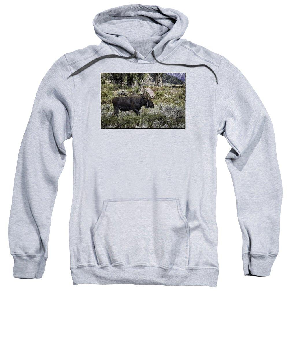 Tetons Sweatshirt featuring the photograph Almost Off by Elizabeth Eldridge