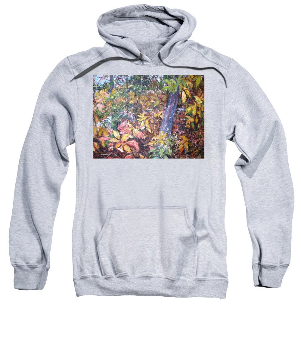 Landscape Sweatshirt featuring the painting Almost Tropical by Sheila Holland