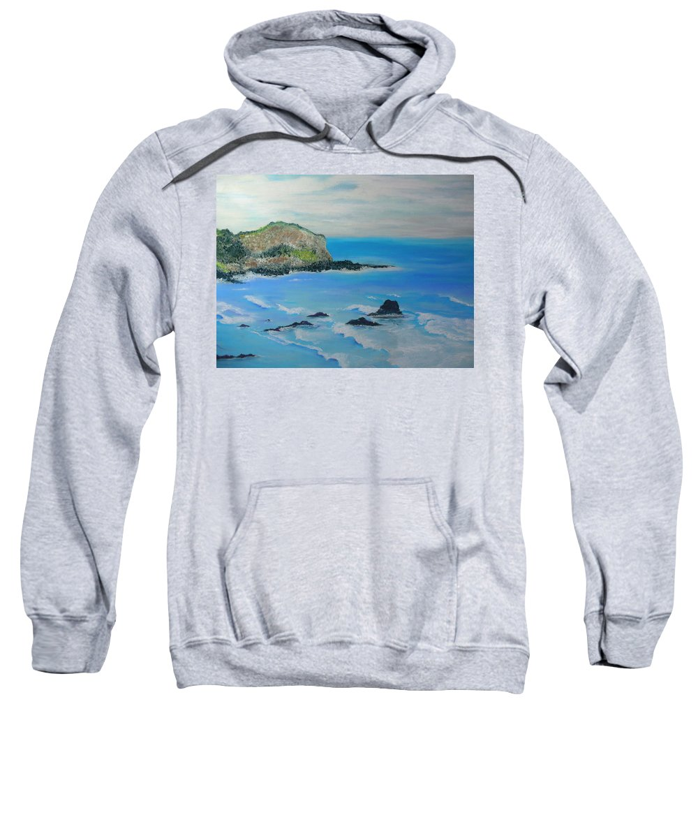 Hawaii Sweatshirt featuring the painting Aloha by Melinda Etzold