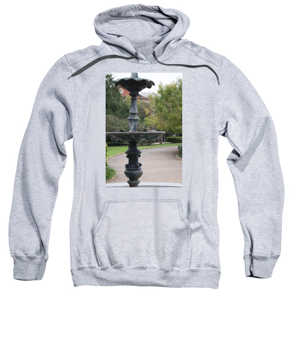 Jackson Square Sweatshirt featuring the photograph Alone In The Fountain by My NOLA Eye