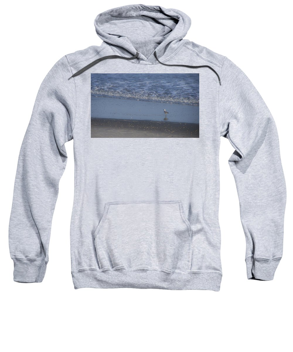 Ocean Sweatshirt featuring the photograph Alone In The Sand by Teresa Mucha