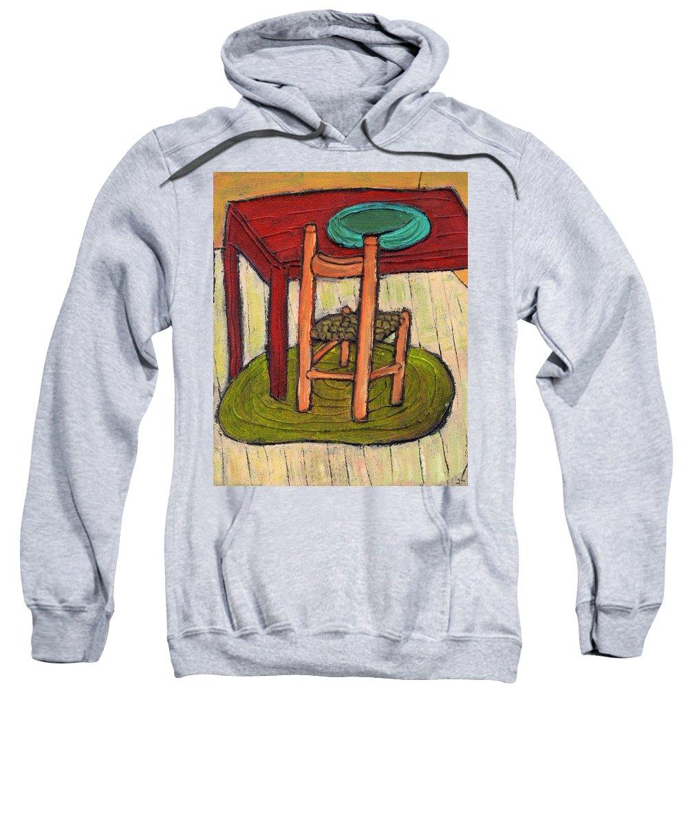 Kitchen Sweatshirt featuring the painting Alone by Wayne Potrafka