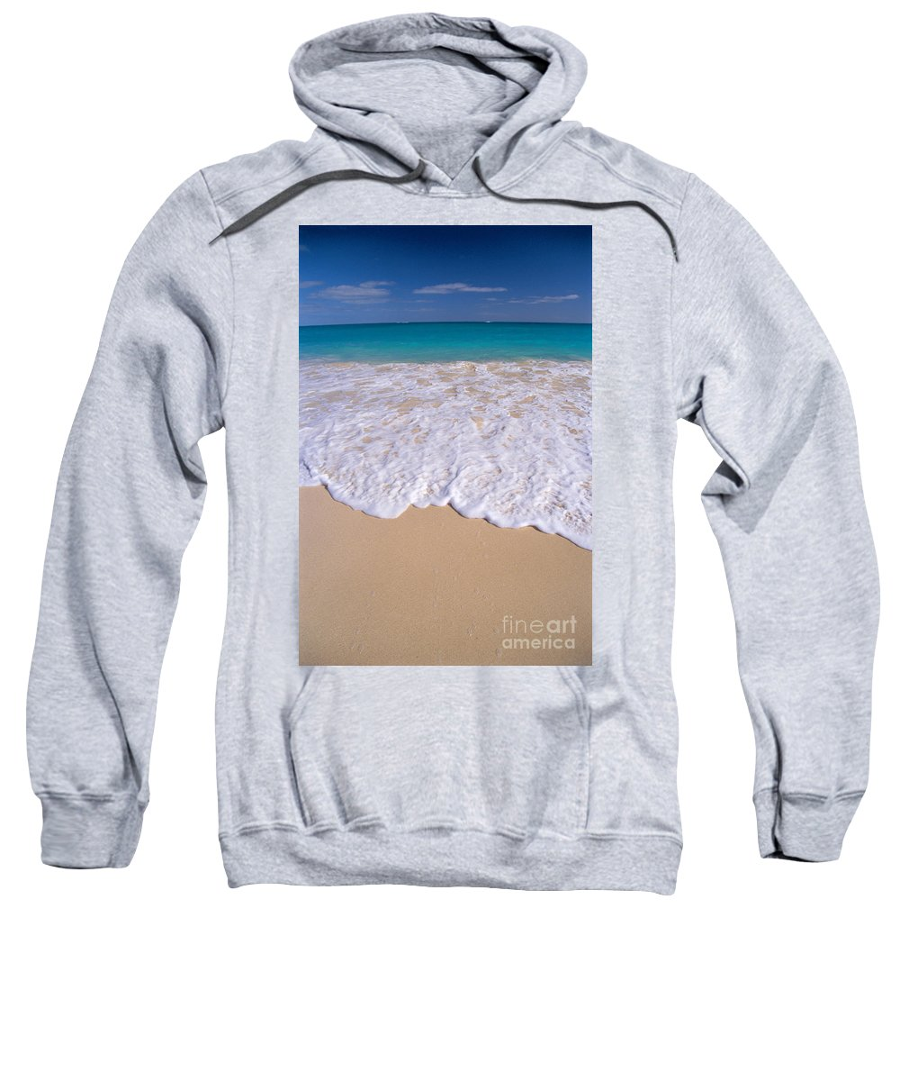 Afternoon Sweatshirt featuring the photograph Along Shoreline by Mary Van de Ven - Printscapes