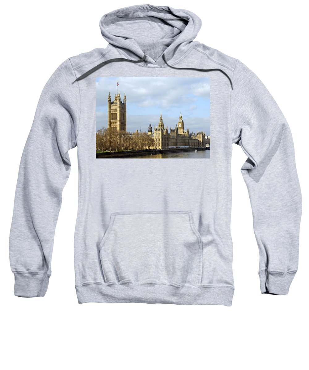 London Sweatshirt featuring the photograph Along The Thames by Stephen Anderson