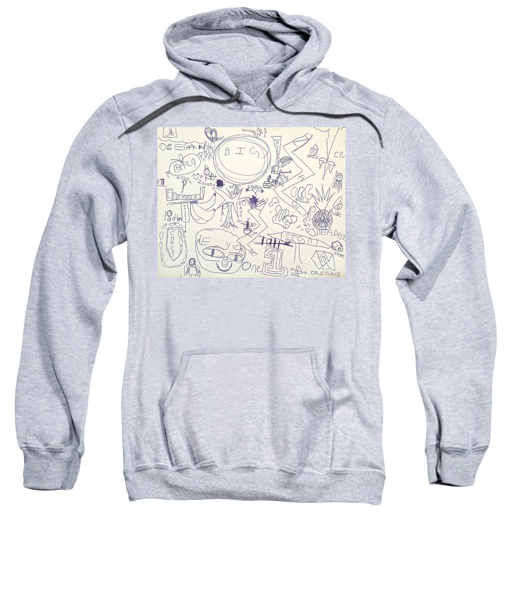Alphabet Sweatshirt featuring the drawing Alpha To Omega by Wonju Hulse