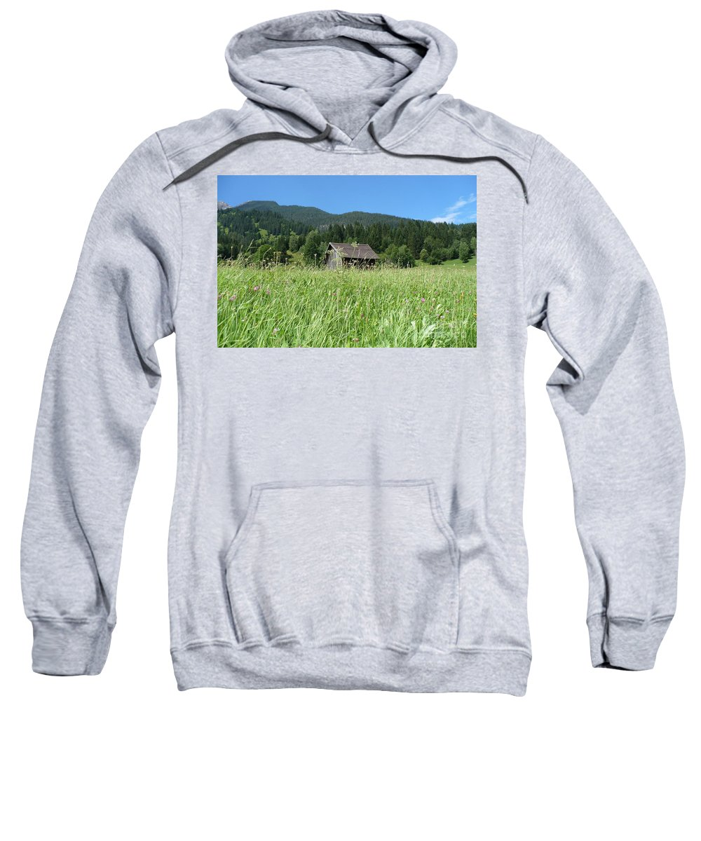 Alpine Sweatshirt featuring the photograph Alpine Meadow by Carol Groenen