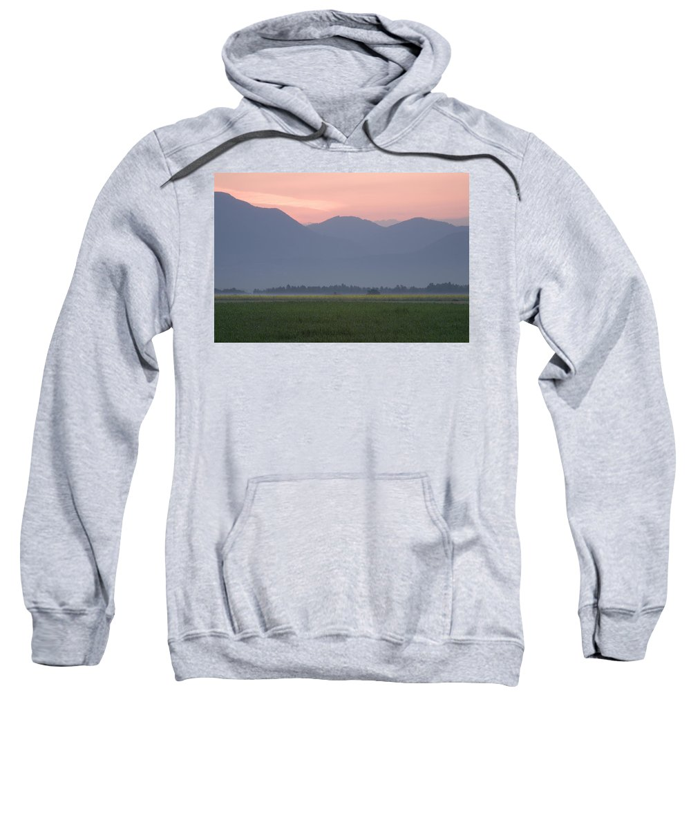 Brnik Sweatshirt featuring the photograph Alpine Sunrise by Ian Middleton