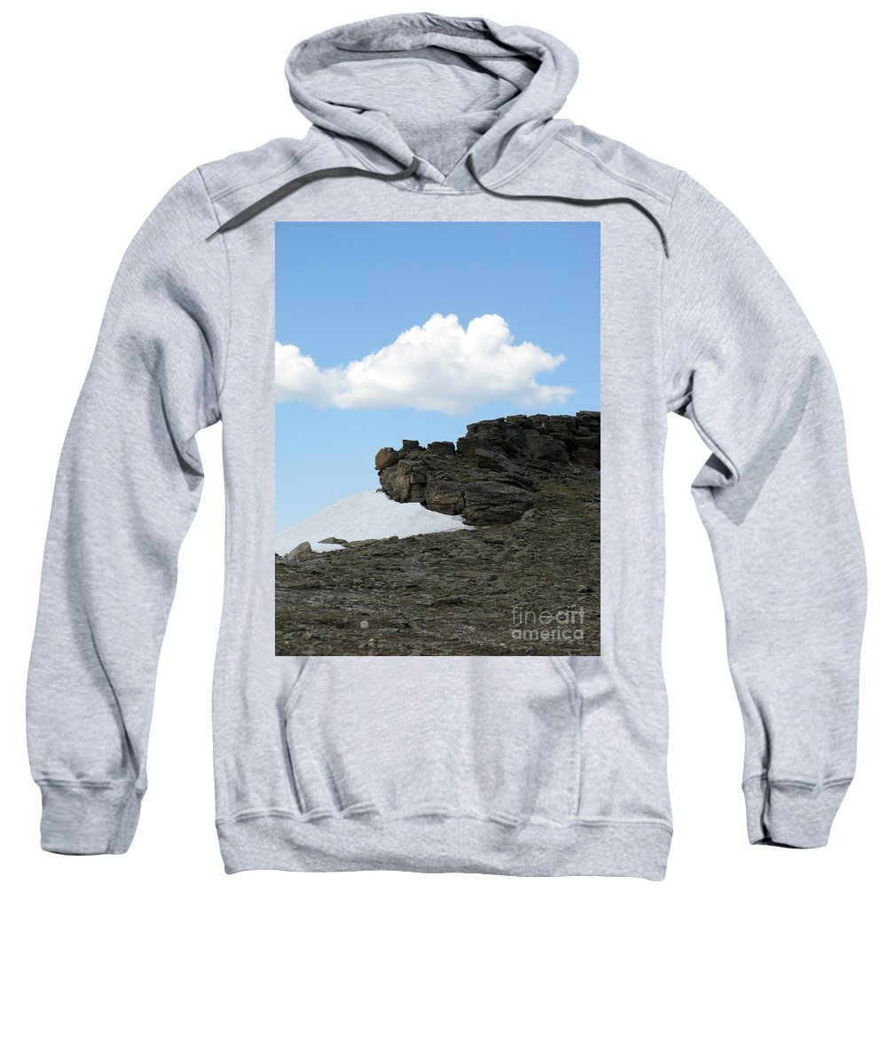 Rocky Mountains Sweatshirt featuring the photograph Alpine Tundra - Up In The Clouds by Amanda Barcon