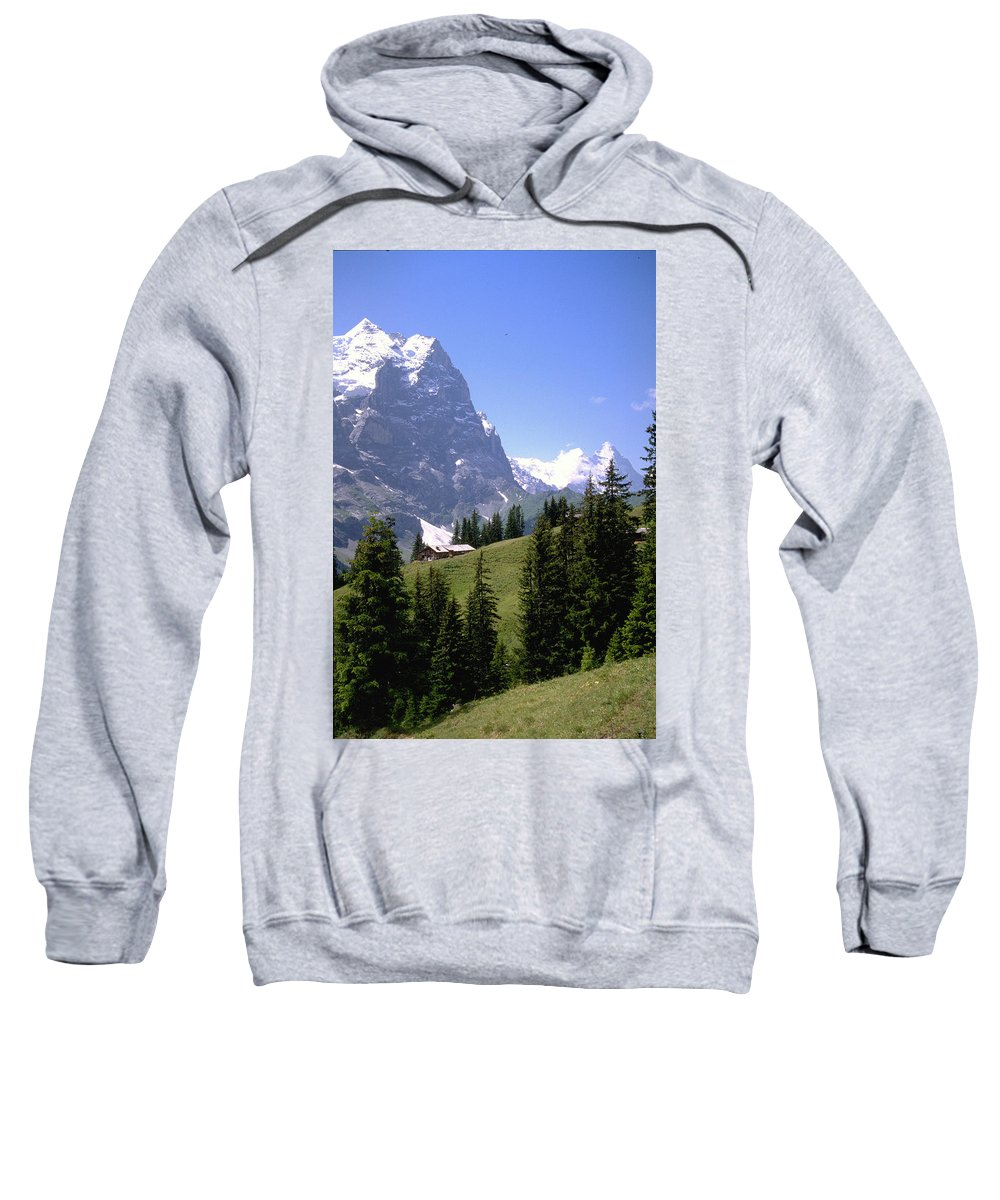 Alps Sweatshirt featuring the photograph Alps by Flavia Westerwelle
