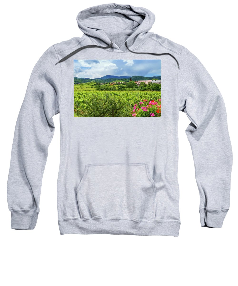 Alsace Sweatshirt featuring the photograph Alsace Landscape, France by Elenarts - Elena Duvernay photo