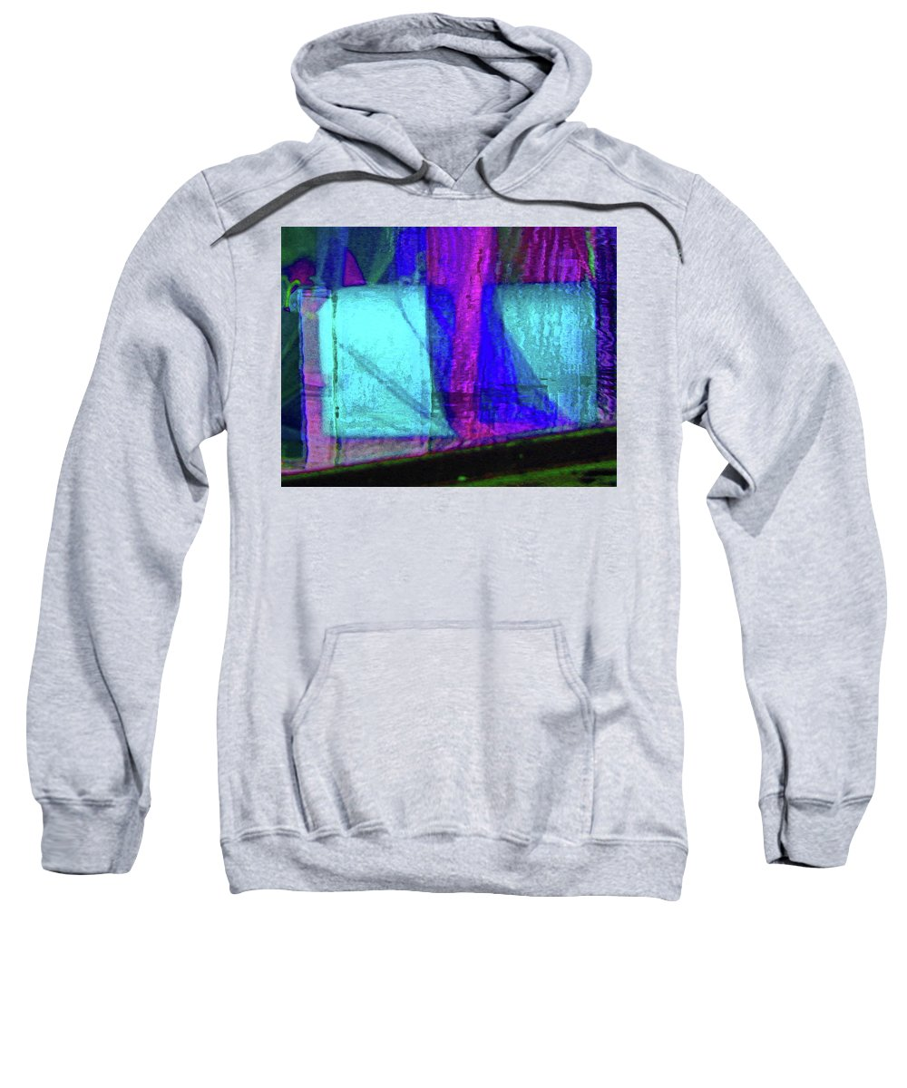 Abstract Sweatshirt featuring the digital art Alternate Reality 4-3 by Lenore Senior