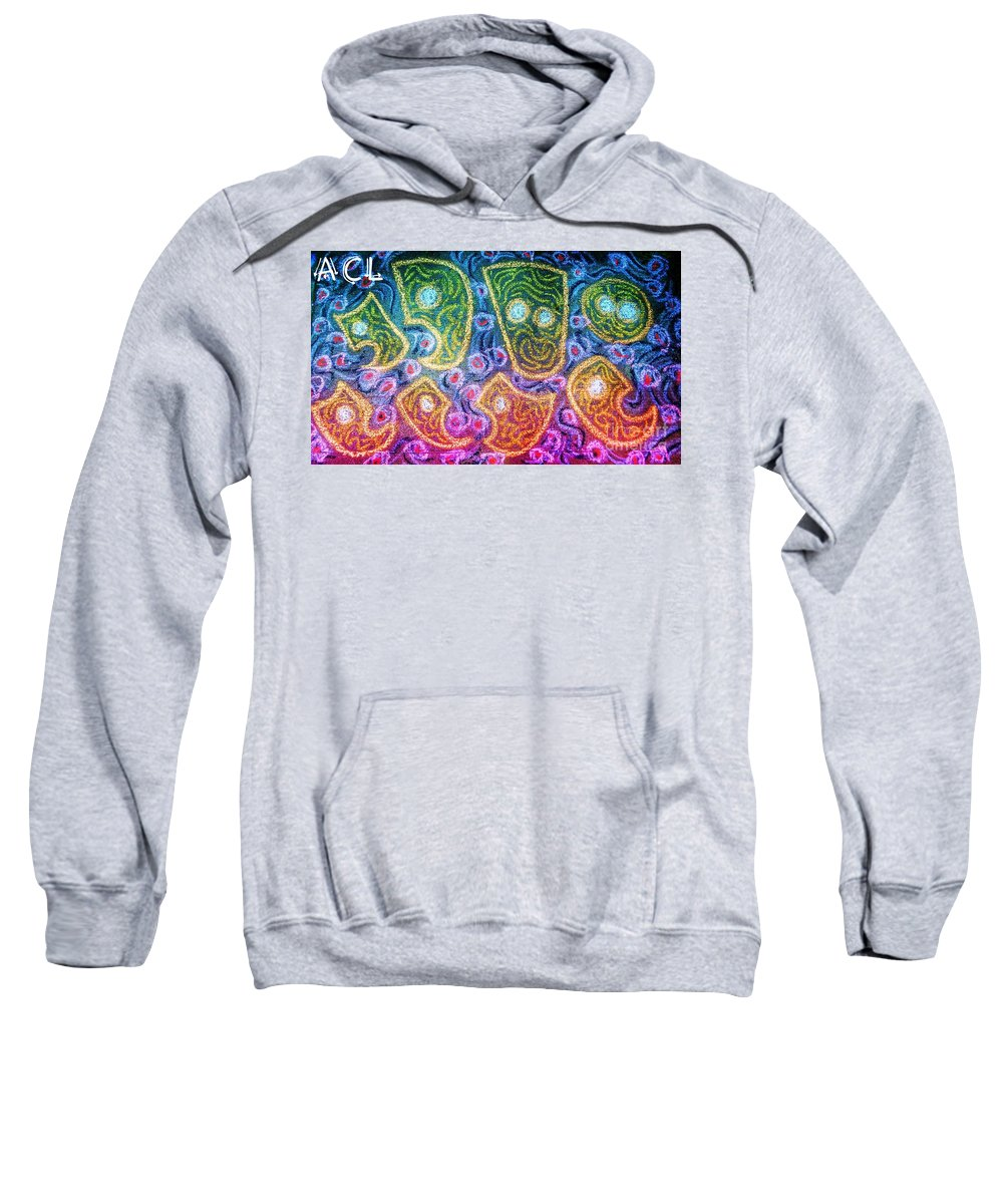 Tribal Sweatshirt featuring the mixed media Alternative Awareness by Alexander Ladd