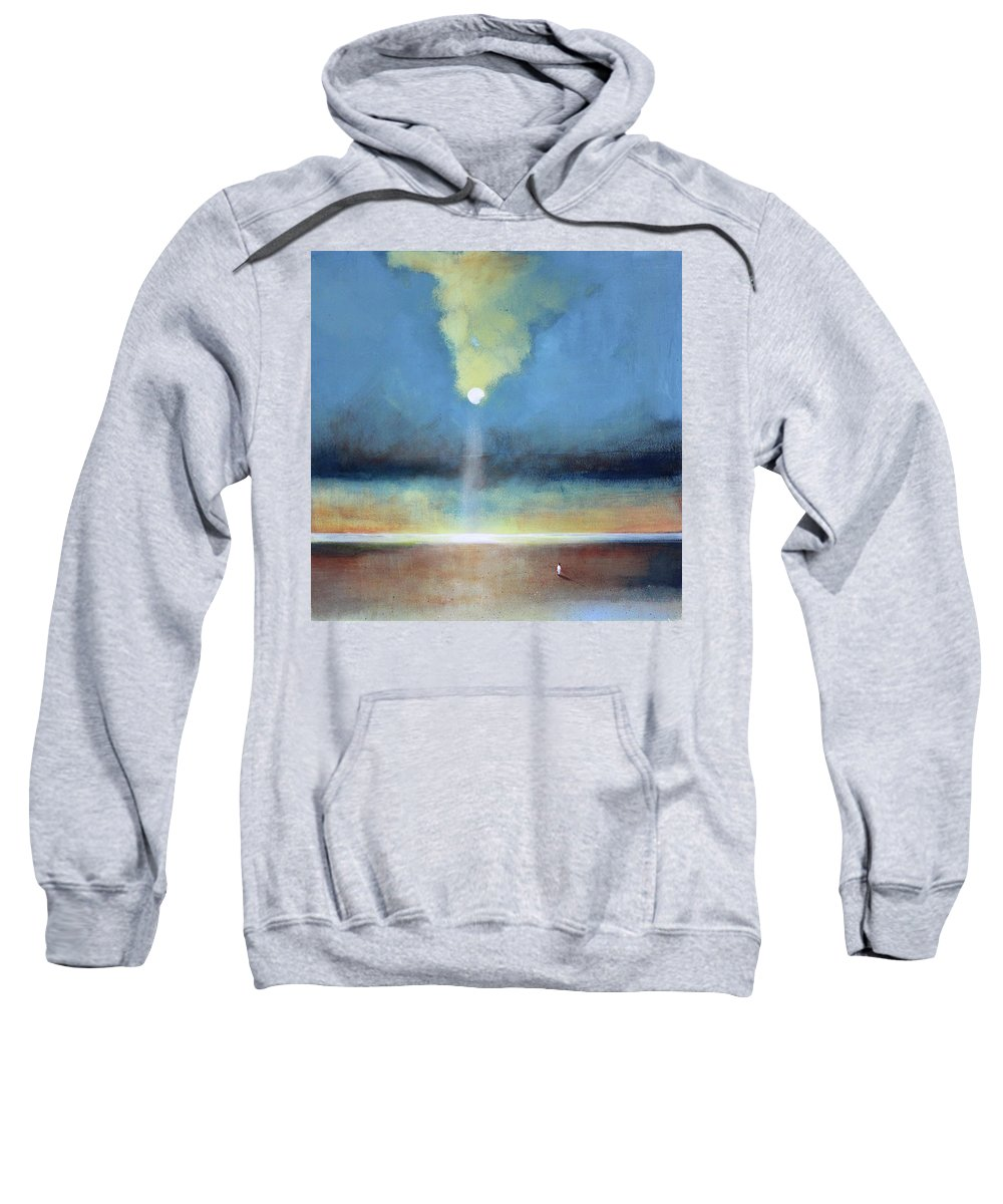 Moon Sweatshirt featuring the painting Always Hopeful by Toni Grote