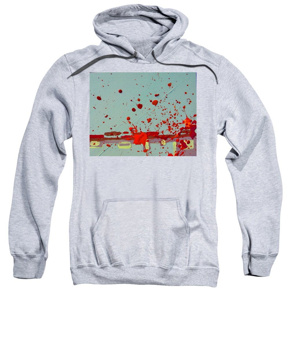 Abstract Sweatshirt featuring the painting Always Under Control by Lenore Senior